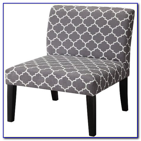 Gray Patterned Accent Chair