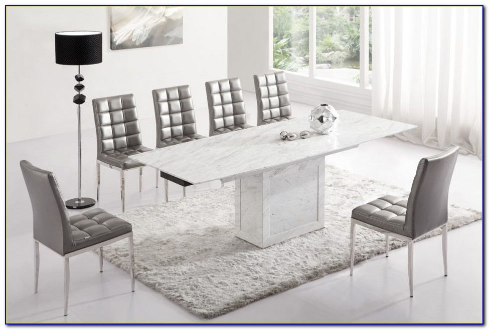 Grey And White Fabric Dining Chairs