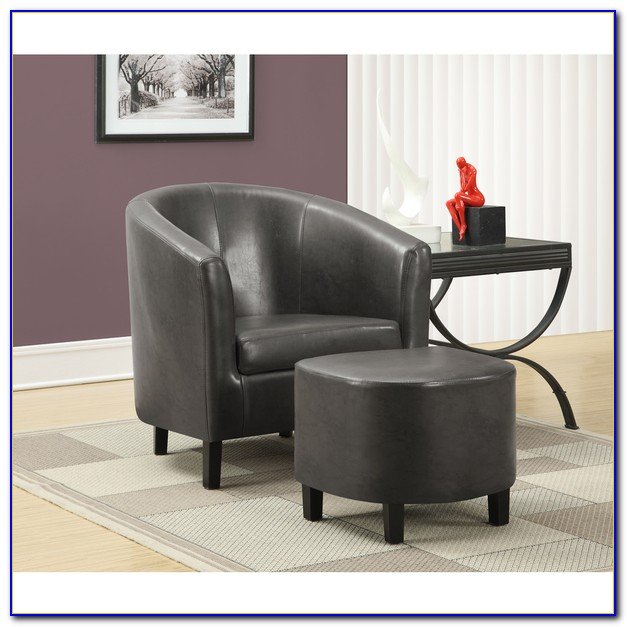 Grey Chair And Ottoman Slipcover