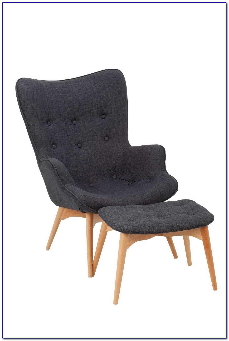 Grey Egg Chair And Ottoman