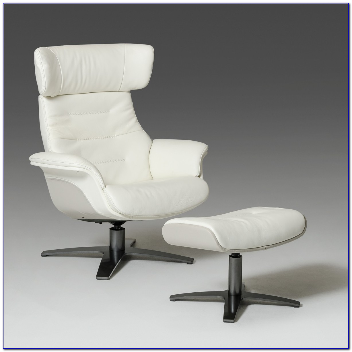 Grey Glider Chair And Ottoman