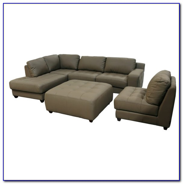 Grey Linen Chair And Ottoman