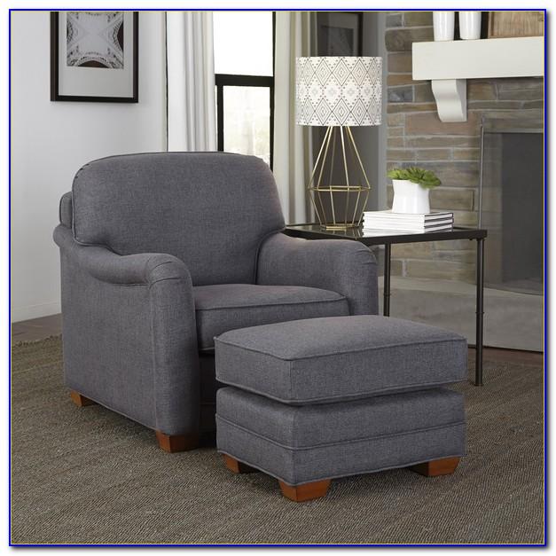 Grey Lounge Chair And Ottoman