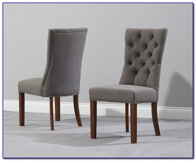 Grey Painted Wooden Dining Chairs