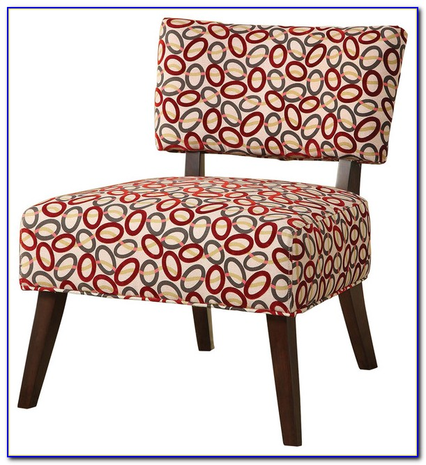 Grey Printed Accent Chair