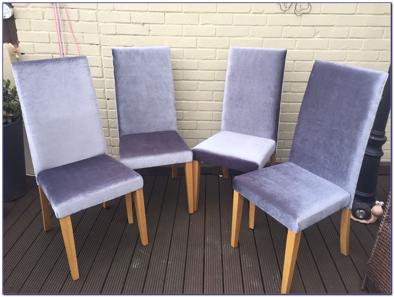 Grey Velvet Dining Room Chairs