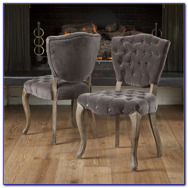 Grey Velvet Dining Set