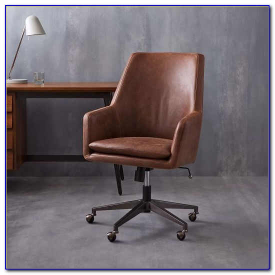 High Back Black Leather Office Chair