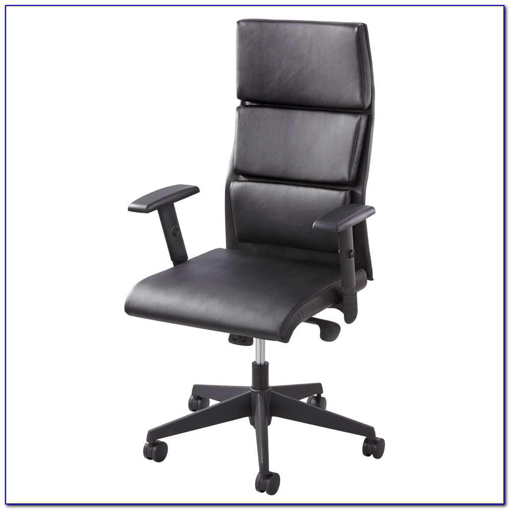 High Back Executive Chair In Black Leatherette