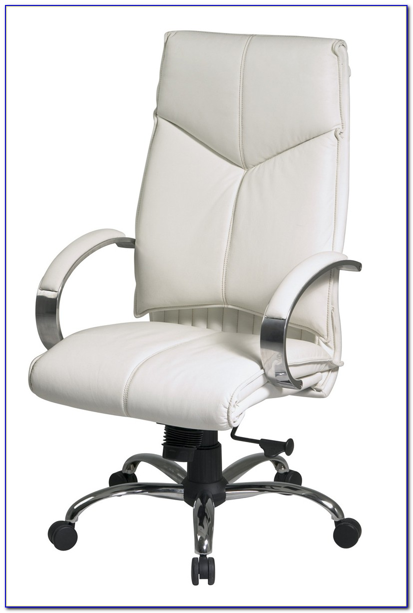 High Back Leather Office Chair White