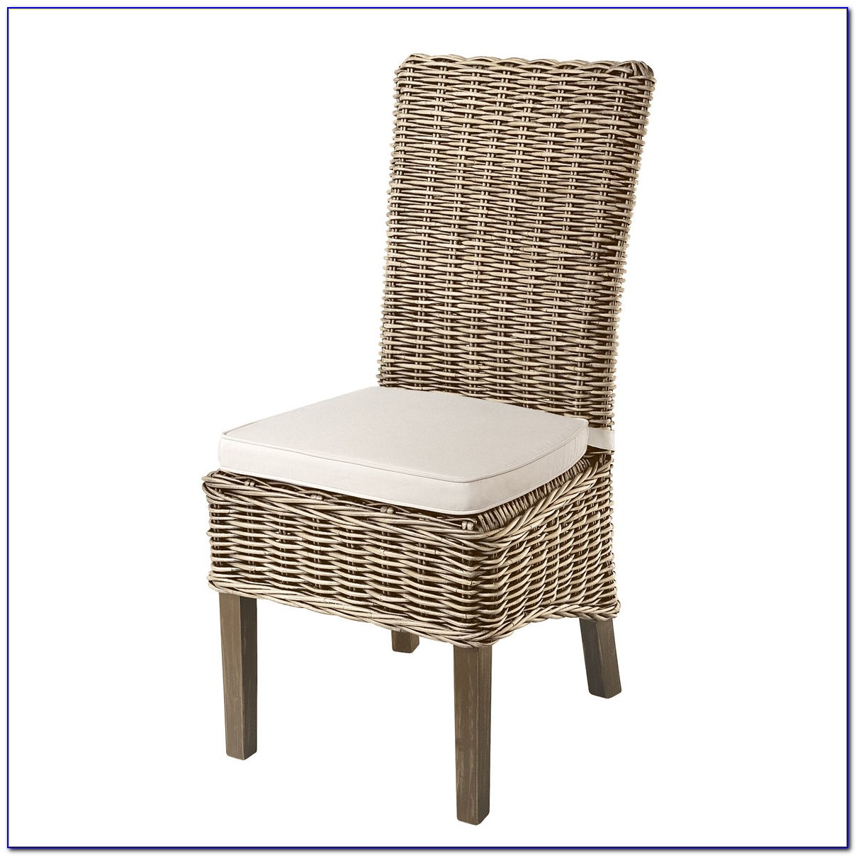 High Back White Wicker Chair