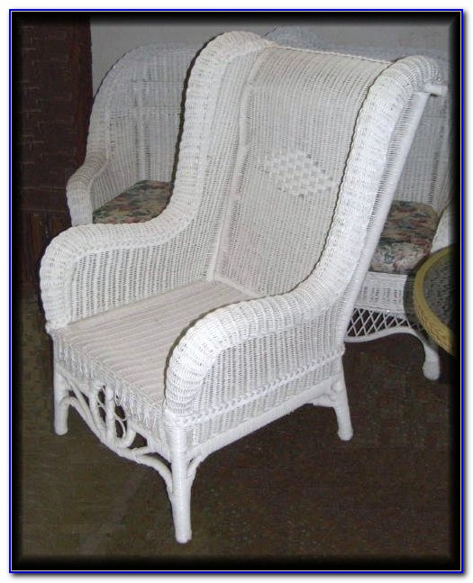 High Back Wicker Dining Chairs