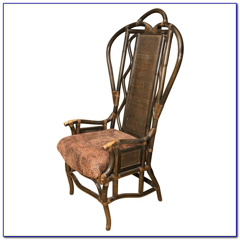 High Back Wicker Rocking Chair Outdoor