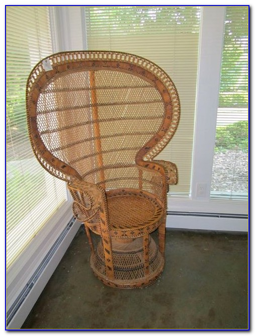 High Back Wicker Rocking Chair
