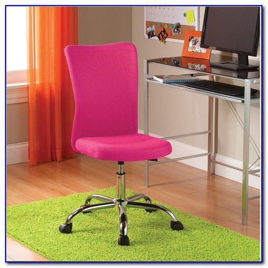 Hot Pink Leather Office Chair