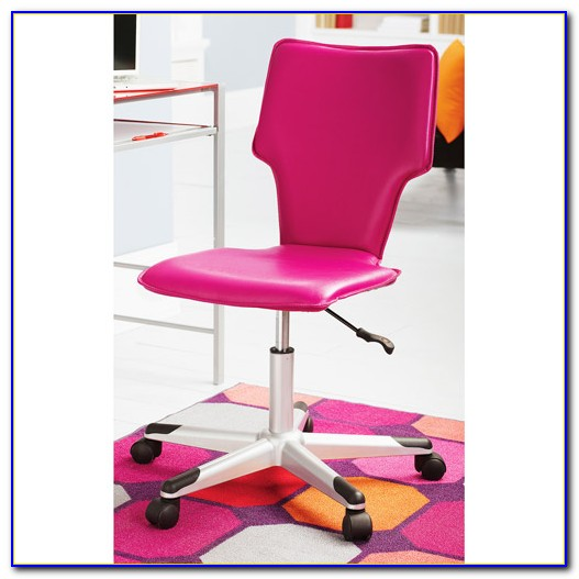 Hot Pink Tufted Desk Chair