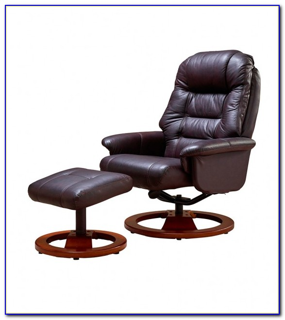 Leather Swivel Recliner Chair And Ottoman