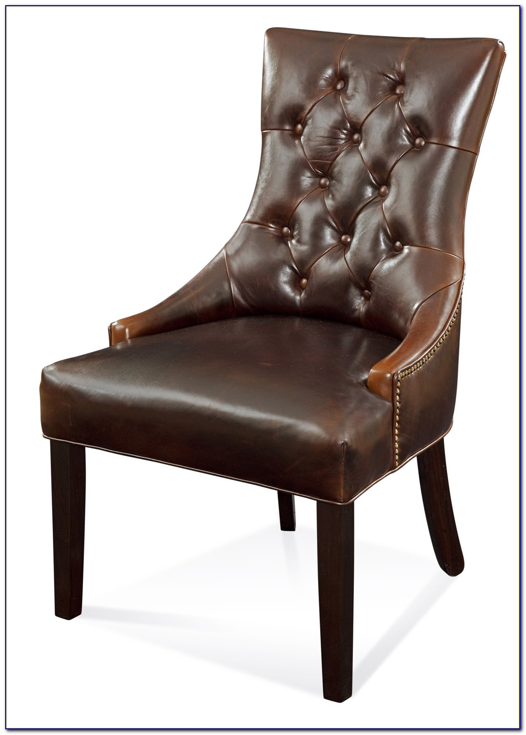Leather Tufted Dining Room Chairs