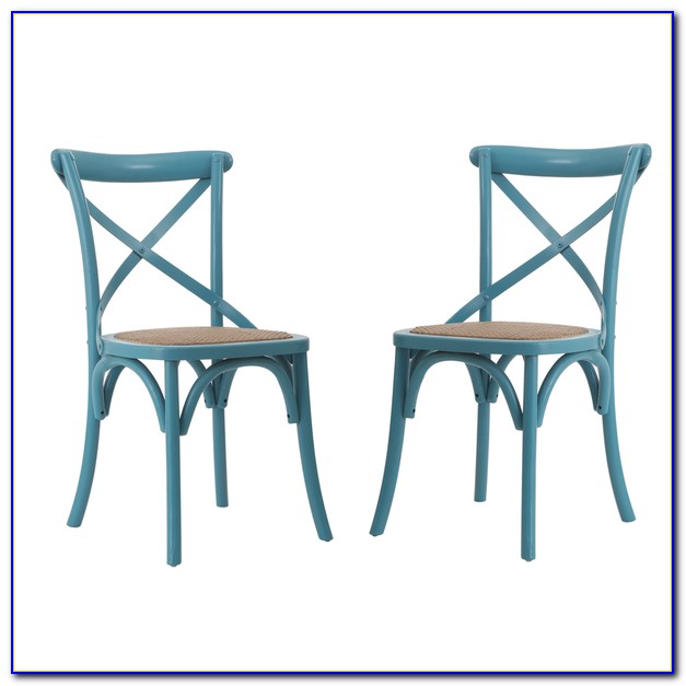Light Blue Leather Dining Chairs