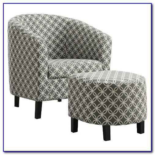 Light Grey Chair And Ottoman