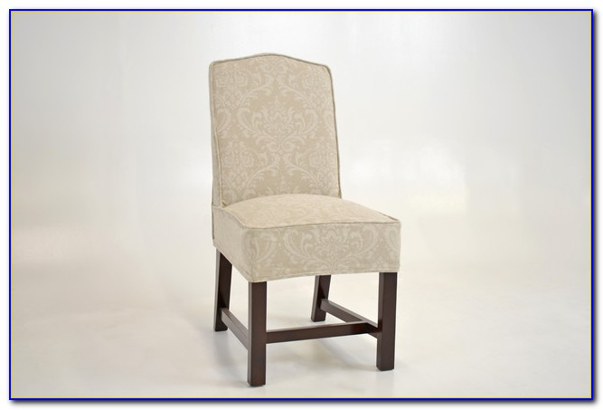 Linen Slip Covered Dining Chairs