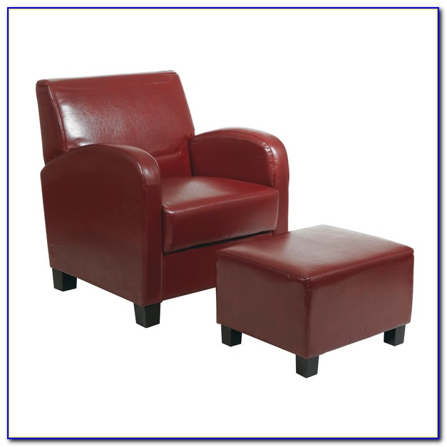 Macy's Leather Chairs And Ottomans