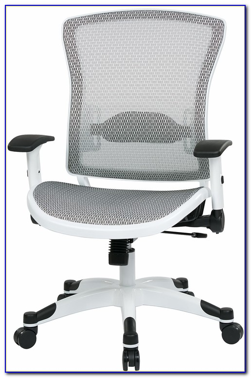 Mesh Office Chair With Leather Seat