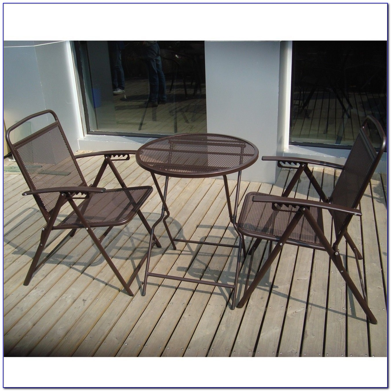 Metal Mesh Patio Table And Chairs
