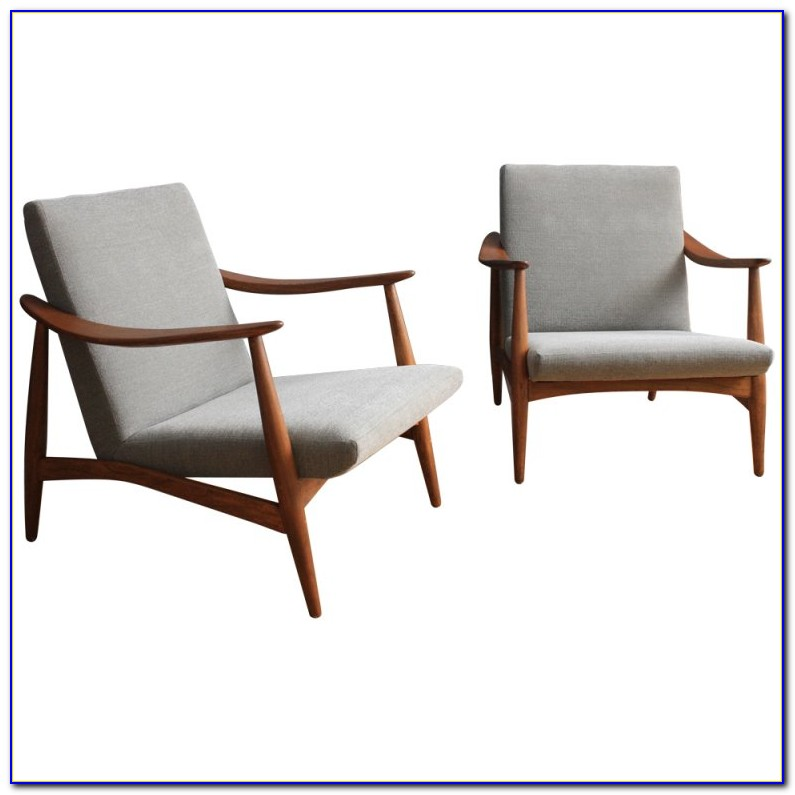Mid Century Lounge Chair Leather