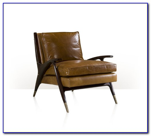 Mid Century Modern Brown Leather Chair