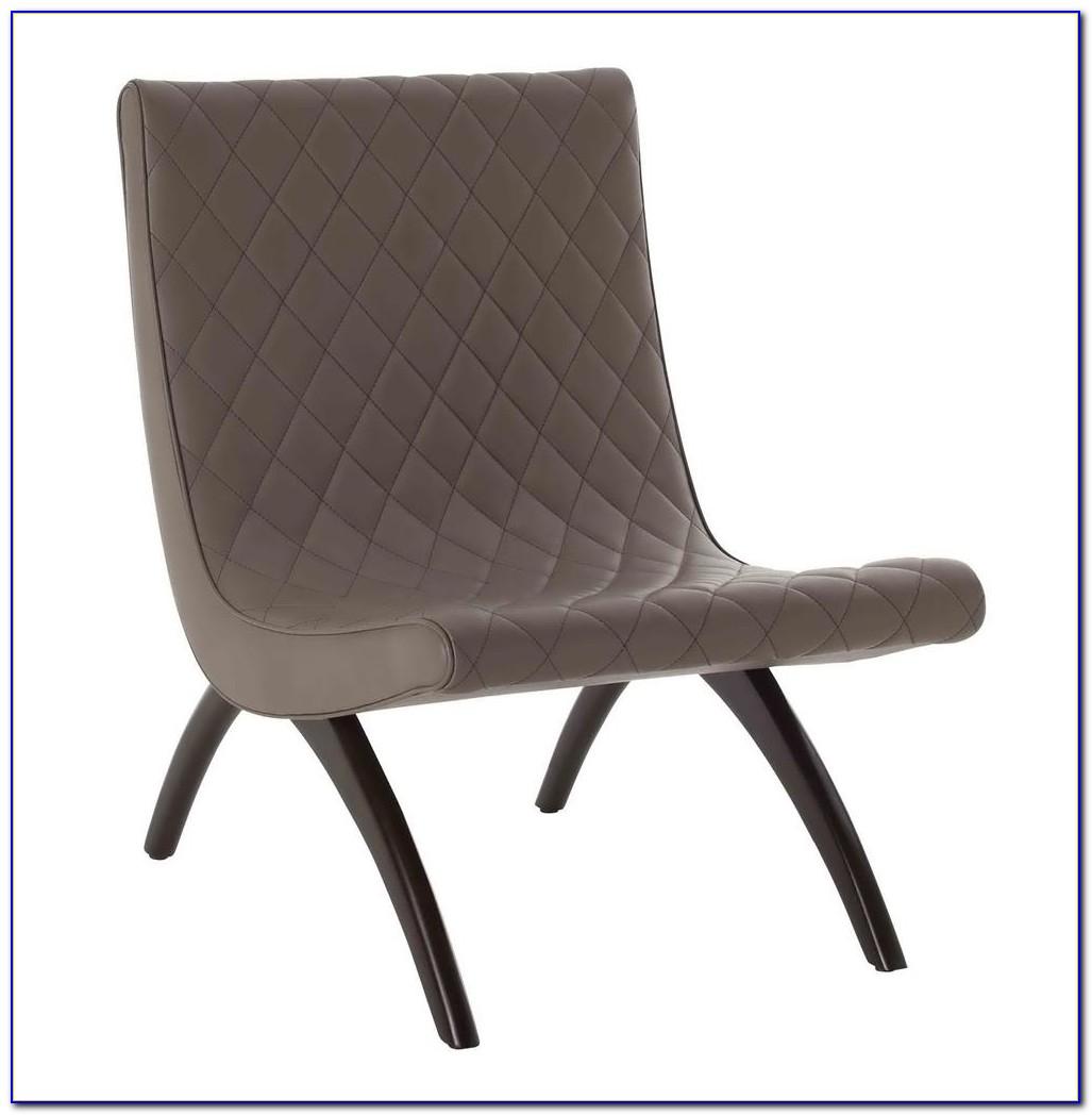 Mid Century Modern Chrome Leather Chair