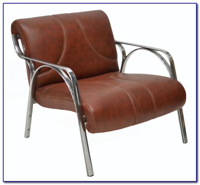 Mid Century Modern Leather Strap Chair