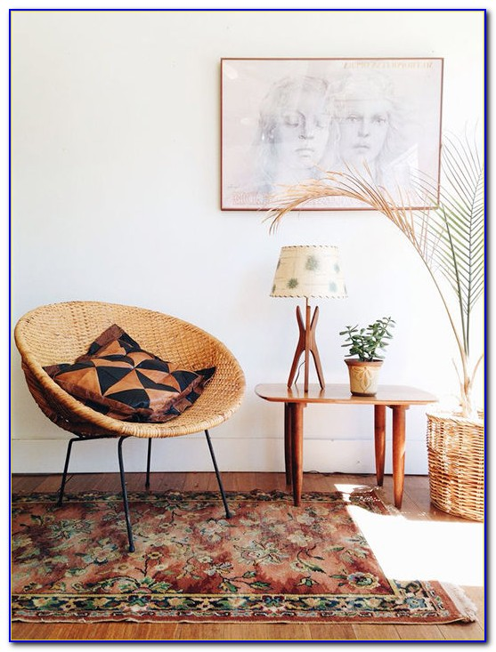 Mid Century Modern Rattan Chairs