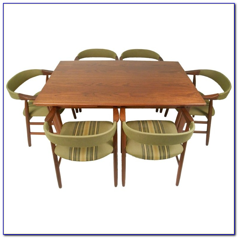 Mid Century Modern Round Dining Table And Chairs