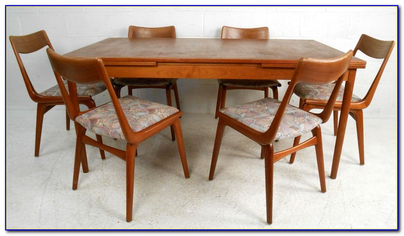 Mid Century Round Dining Table And Chairs