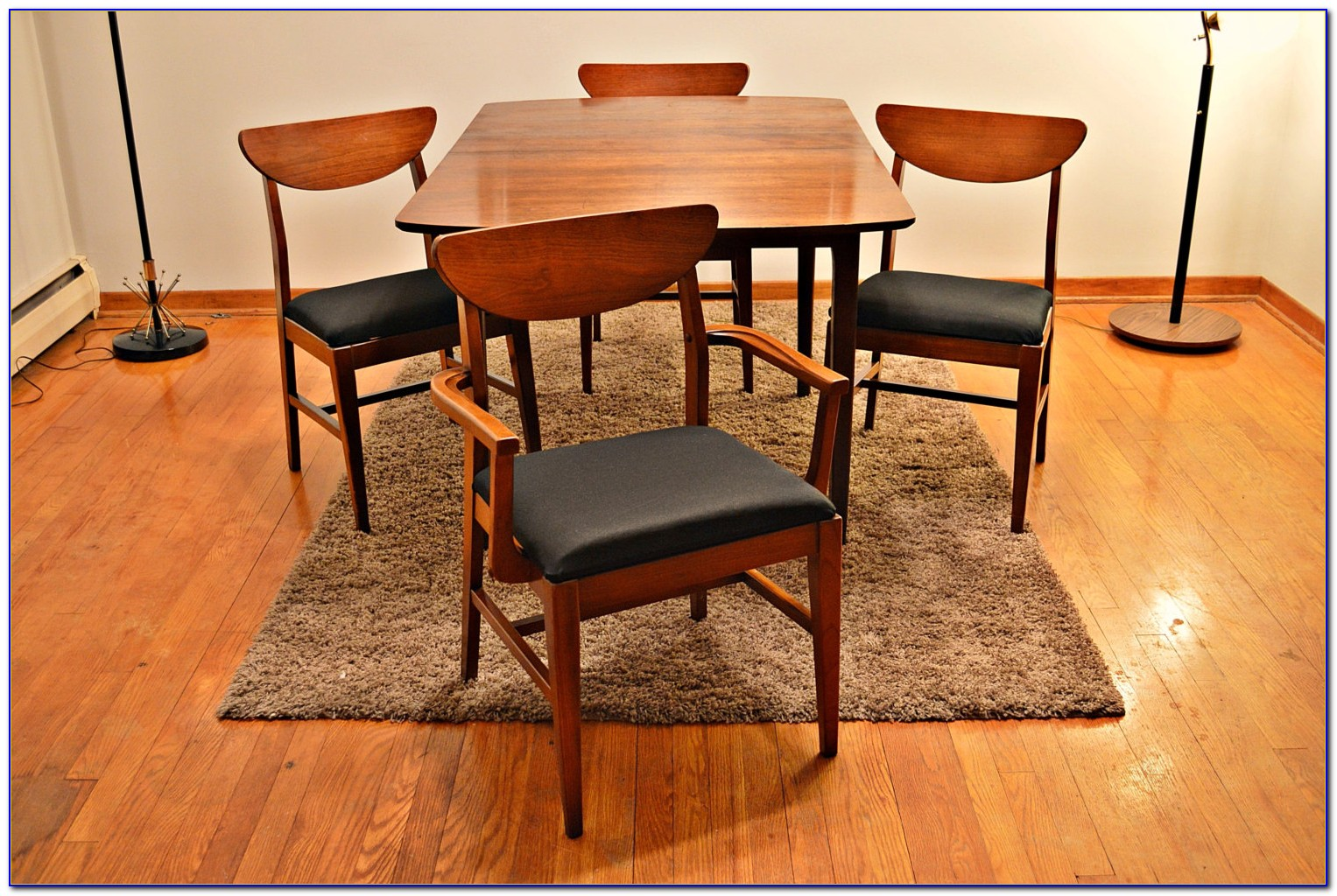 Mid Century Teak Dining Table And Chairs