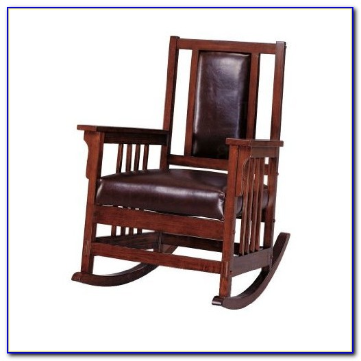 Mission Style Rocking Chair Leather