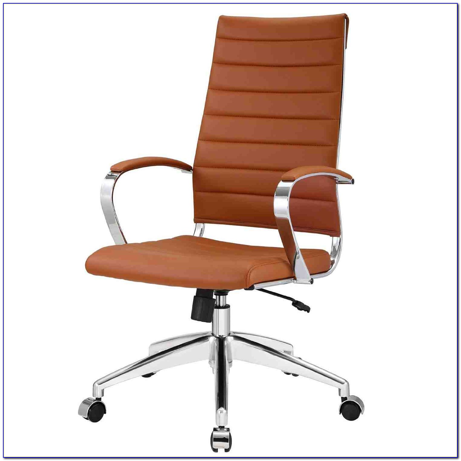 Modern Grey Leather Office Chair