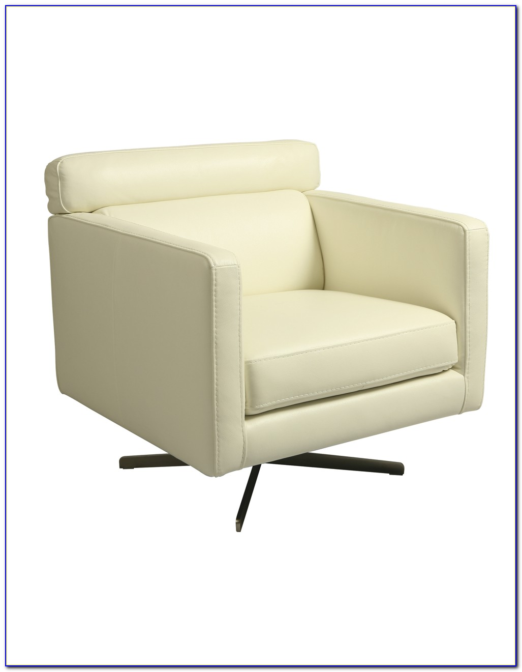 Modern White Leather Club Chair