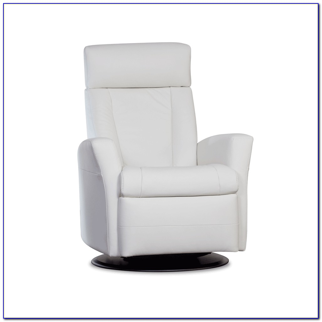 Modern White Leather Recliner Chair