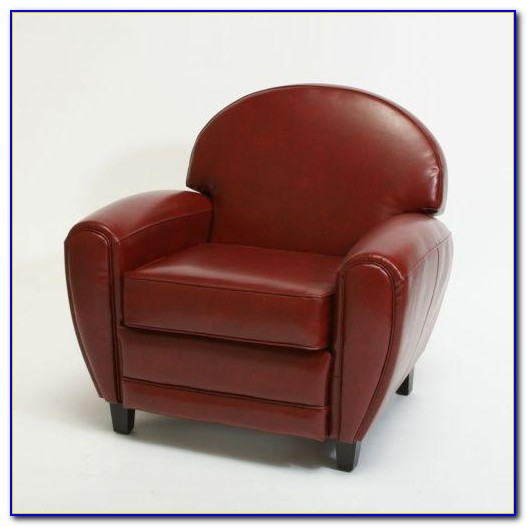 Natuzzi Red Leather Club Chair