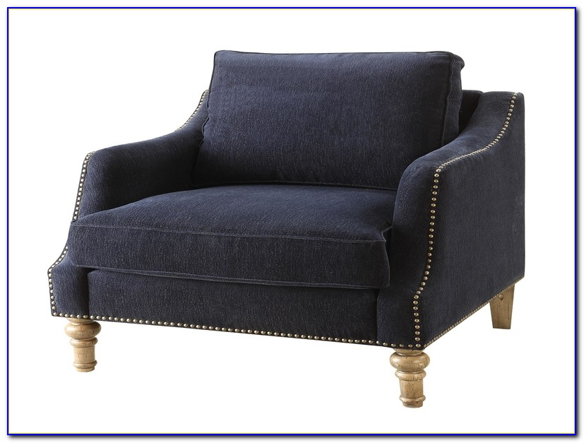 Navy Blue Accent Chairs With Arms