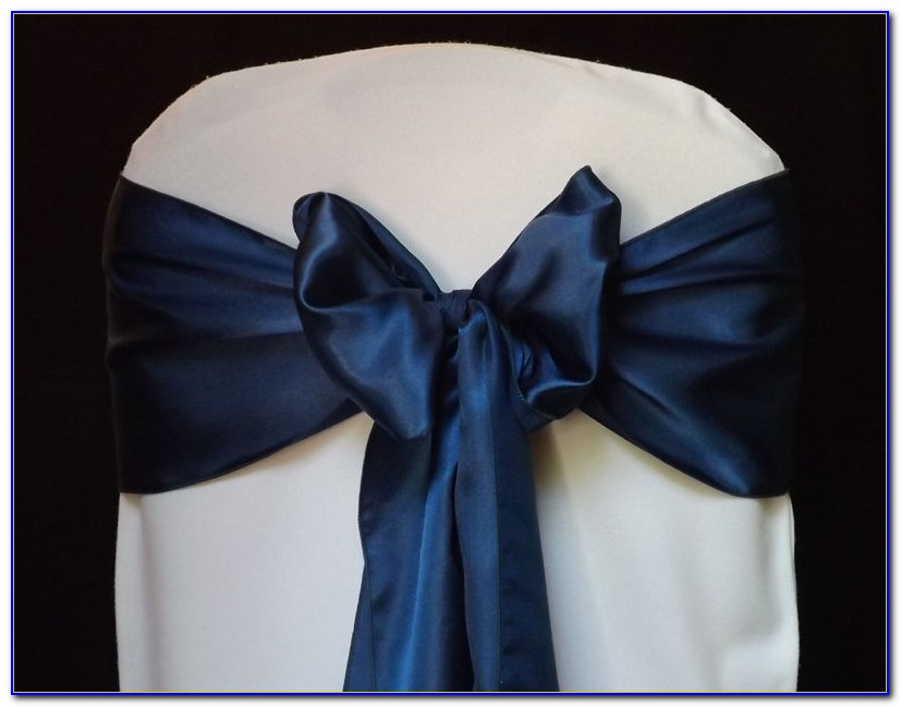 Navy Blue Chair Sashes Canada