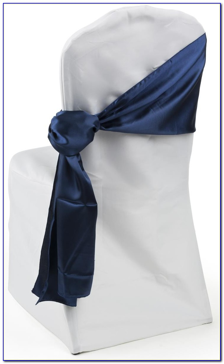 Navy Blue Organza Chair Sashes