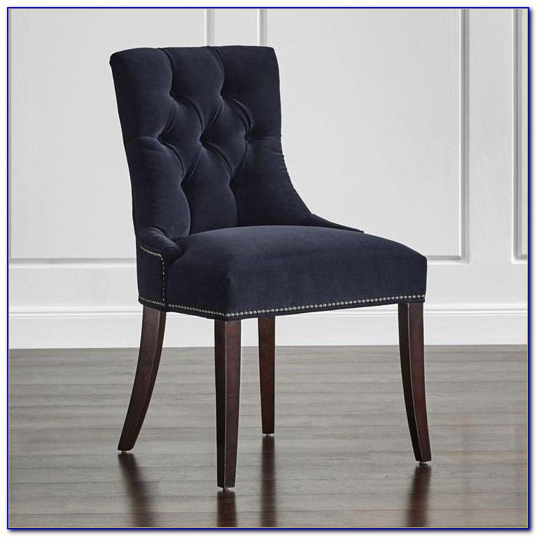 Navy Velvet Dining Chairs