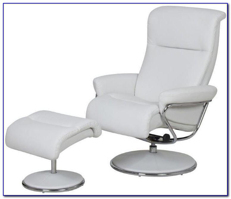 Off White Leather Recliner Chair