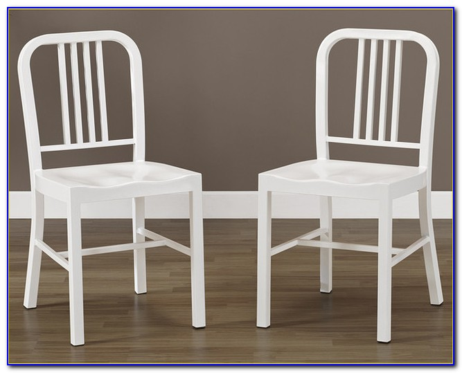 Off White Metal Dining Chairs