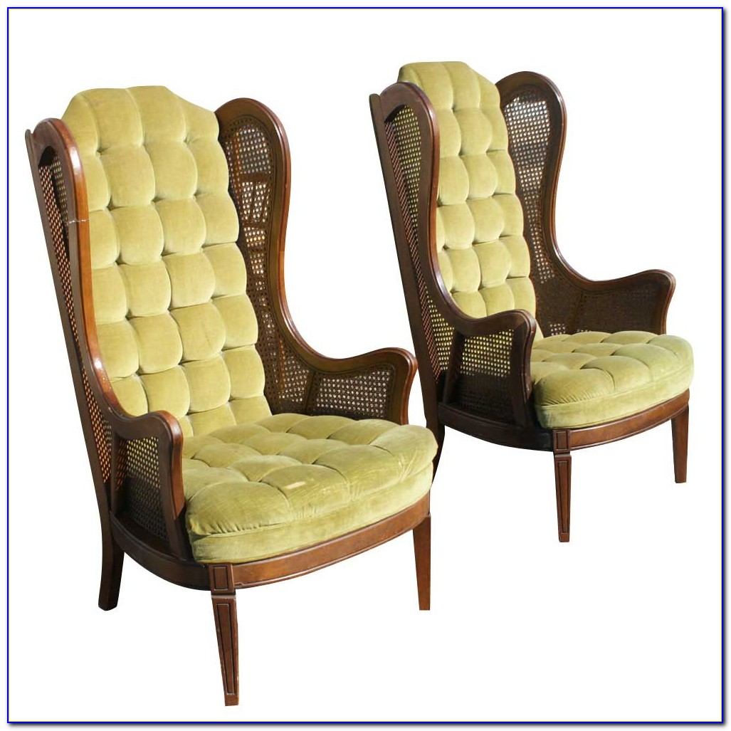 Old Cane Back Dining Chairs