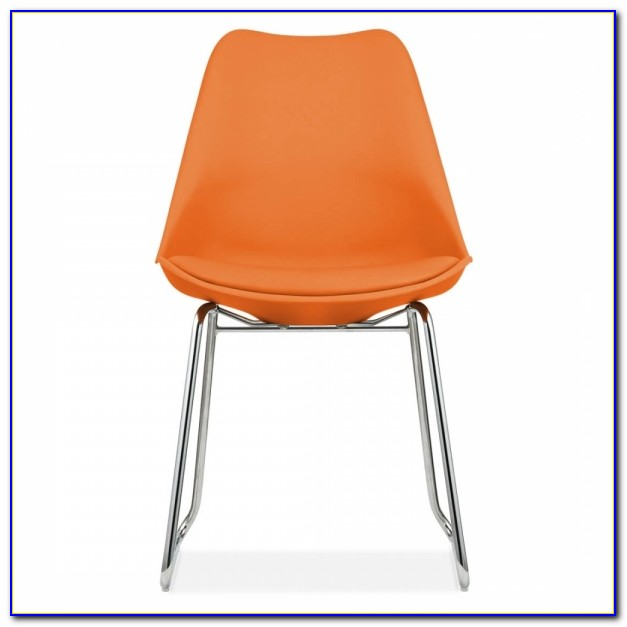 Orange Upholstered Dining Room Chairs
