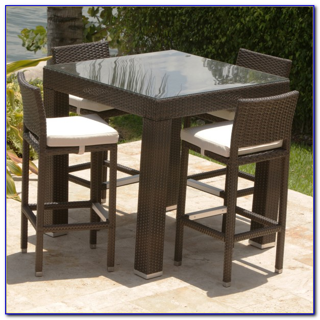 Outdoor Bar Height Dining Table And Chairs